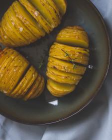 Schatjes van patatjes – Hasselback potatoes