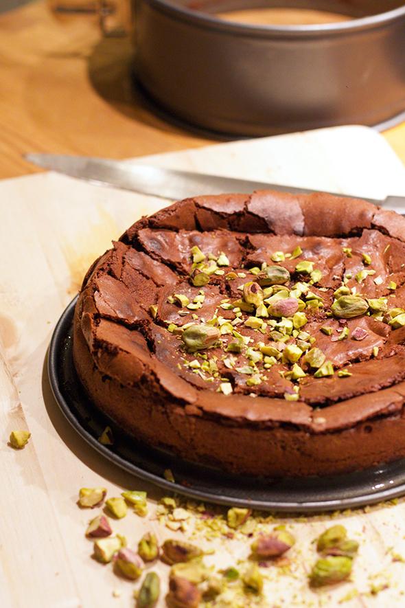 Glutenvrije brownietaart