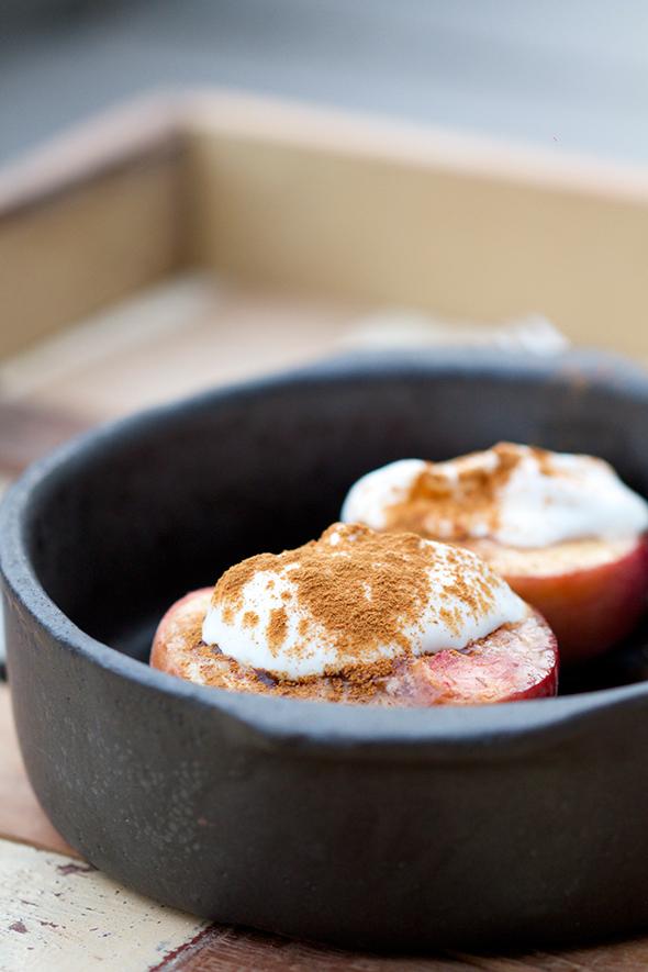 Geroosterde perziken