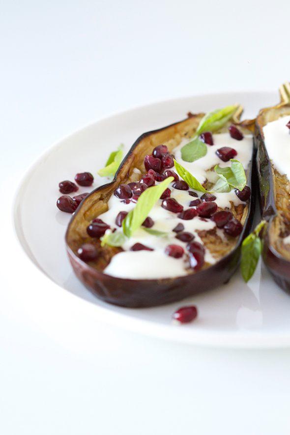 Yotam Ottolenghi's geroosterde aubergine