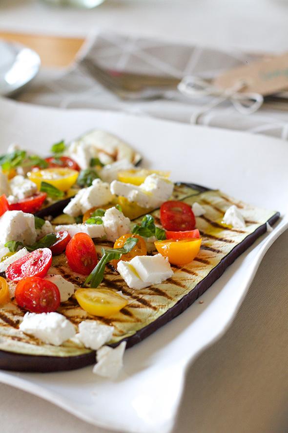 Gegrilde auberginesalade