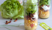Classic salad in a jar