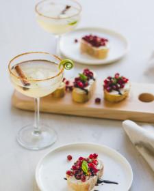 Apero: Mocktail & granaatappel bruscetta
