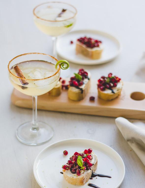 Apero: Mocktail & granaatappel bruschetta